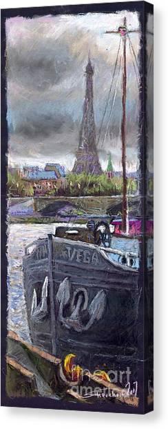 Pastel Canvas Print - Paris Pont Alexandre IIi by Yuriy Shevchuk