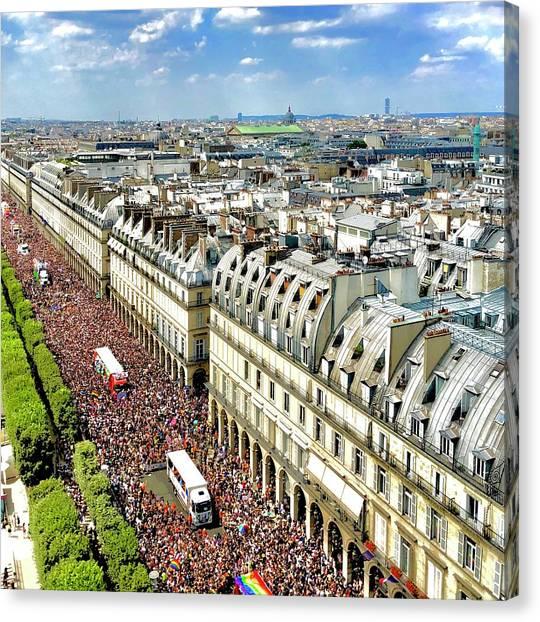 Paris Pride March 2018 Canvas Print