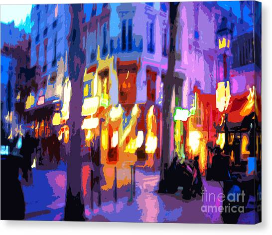 Abstract Digital Art Canvas Print - Paris Quartier Latin 02 by Yuriy Shevchuk