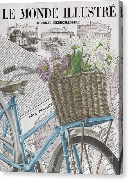Bicycle Canvas Print - Paris Ride 1 by Debbie DeWitt