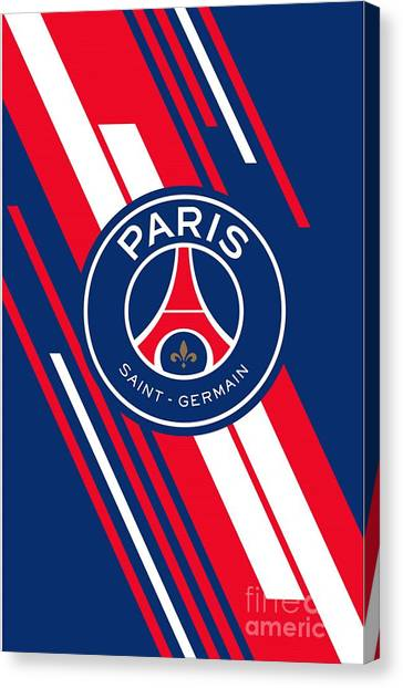 Paris Saint-germain Fc Canvas Print - Paris Saint-germain by Suparto Johan