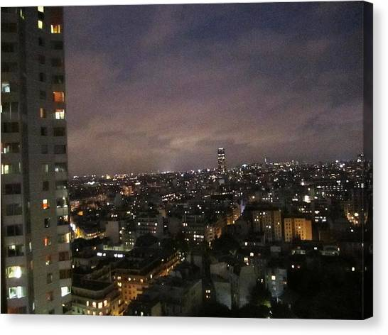 Paris Skyline At Night II France Canvas Print