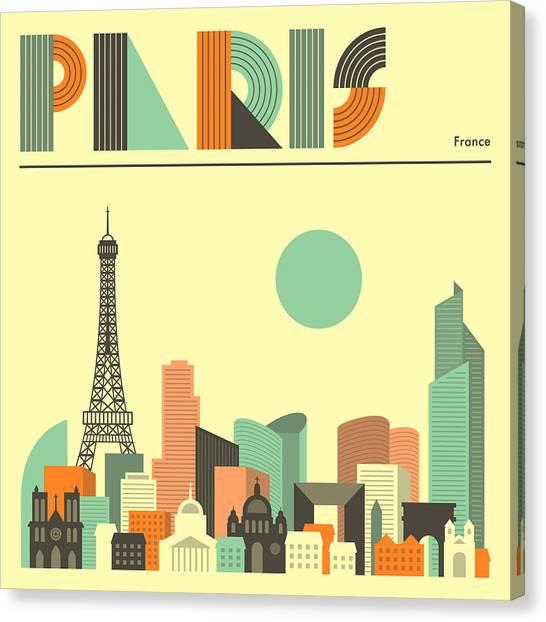 Paris Skyline Canvas Print - Paris Skyline by Jazzberry Blue
