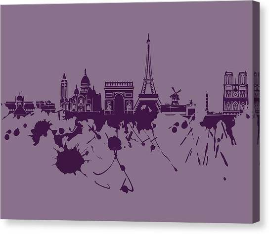 Paris Skyline.1 Canvas Print