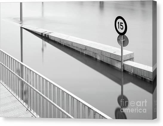 Flood Canvas Print - Paris Spring 2016 by Delphimages Photo Creations