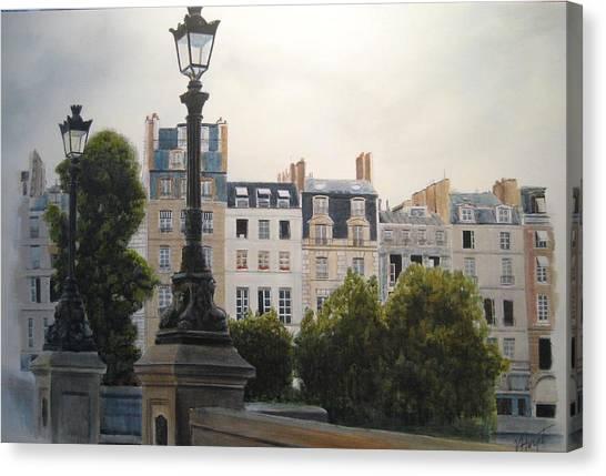 Paris Stroll Canvas Print by Victoria Heryet
