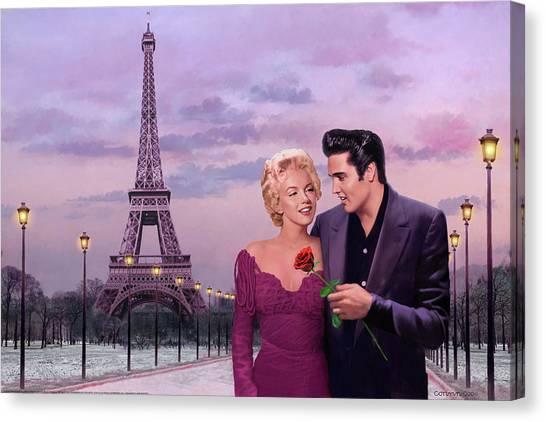 James Dean Canvas Print - Paris Sunset by Chris Consani