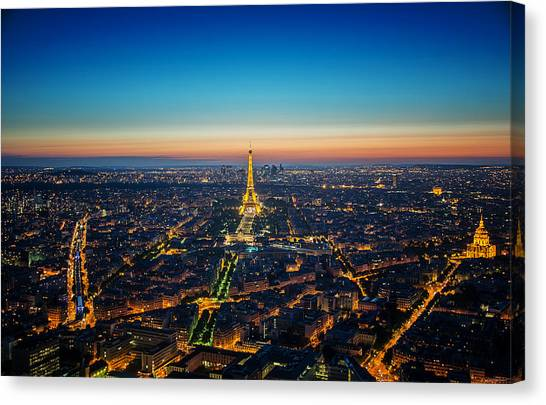 Paris Sunset Canvas Print by Ryan Wyckoff