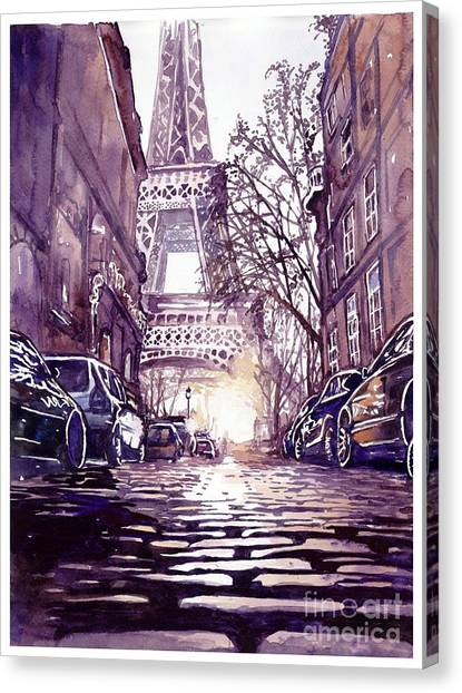 Bistros Canvas Print - Paris by Suzann's Art