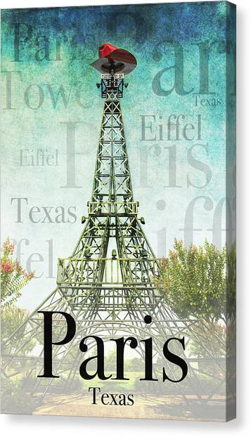 Paris Texas Style Canvas Print