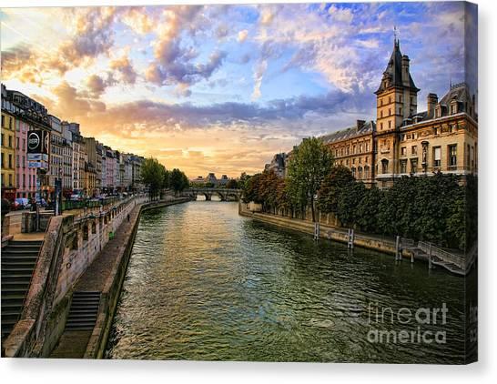 Paris The Seine River C Canvas Print