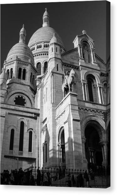 Paris Visit To Sacre Coeur Cathedral Canvas Print