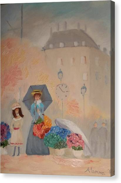 Paris  Yoli By Alanna Canvas Print by Alanna Hug-McAnnally