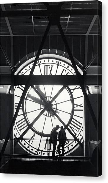 Parisian Clock Canvas Print by Andrea Simon
