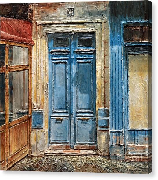Parisian Door No.36 Canvas Print