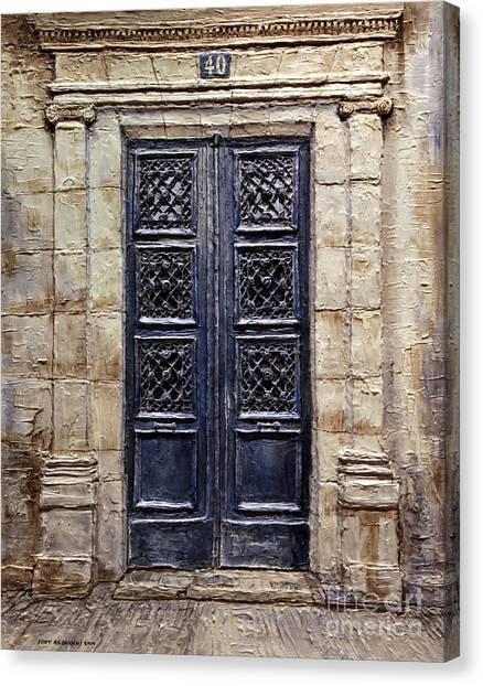 Parisian Door No.40 Canvas Print