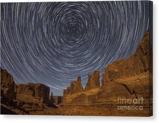Park Avenue Star Trails Canvas Print