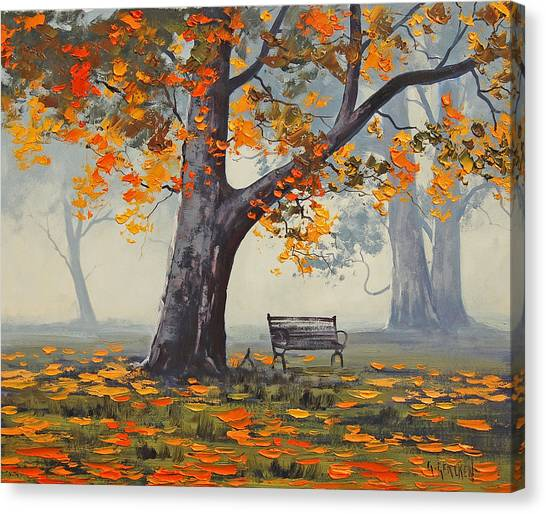 Park Benches Canvas Print - Park Bech by Graham Gercken