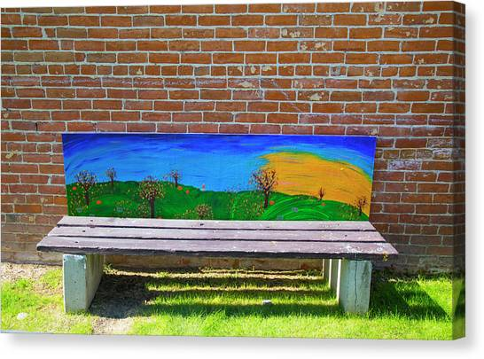 Park Bench Emmetti Idaho Canvas Print