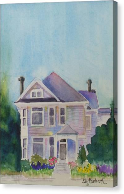 Park Blvd Victorian Canvas Print by Ally Benbrook