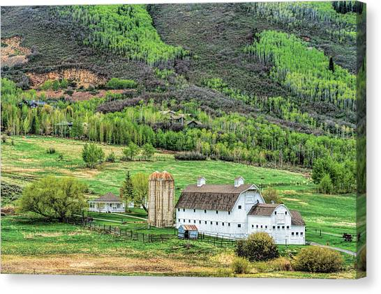 Park City Utah Barn Canvas Print