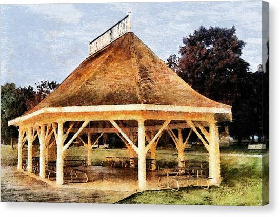 Park Gazebo Canvas Print