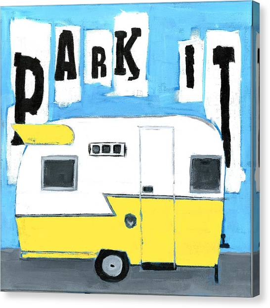 Park It-yellow Canvas Print