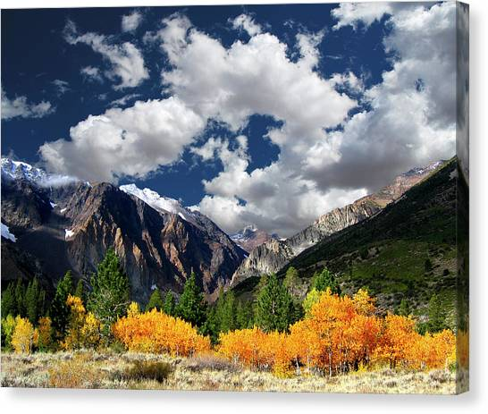 Mountain Ranges Canvas Print - Parker Canyon Fall Colors California's High Sierra by Bill Wight CA