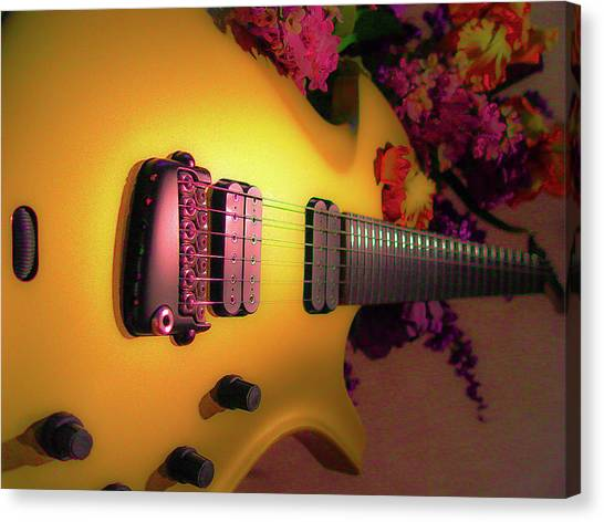 Parker Fly Guitar Hover Series Canvas Print
