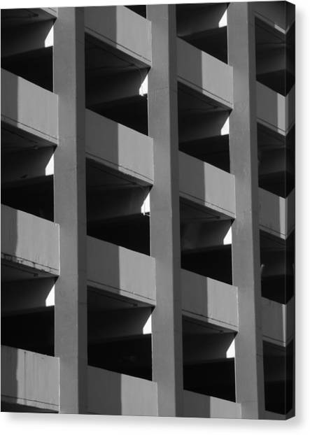 Parking Garage Milwaukee Abstract 2334 Canvas Print