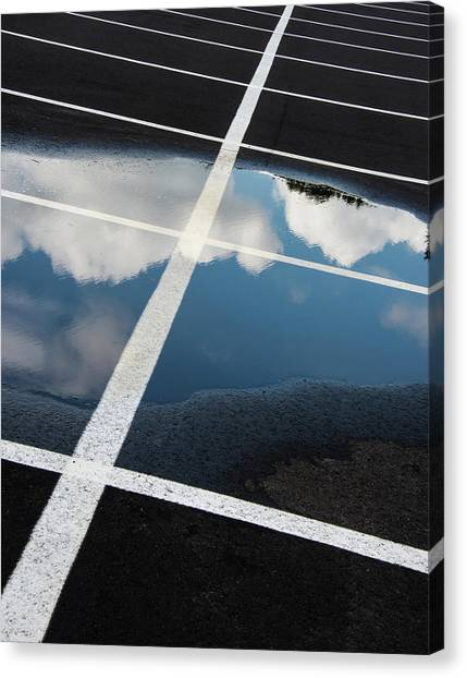 Parking Spaces For Clouds Canvas Print