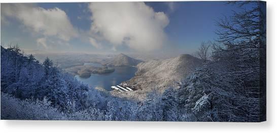 Parksville Lake Snowy Overlook Canvas Print