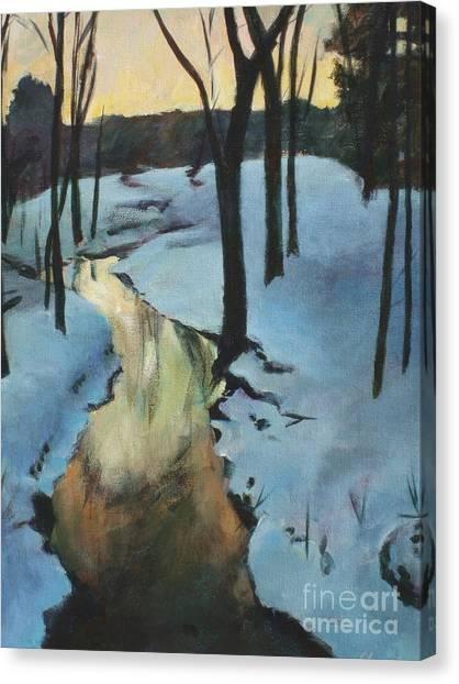 Parlee Farm Sunset Creek Canvas Print