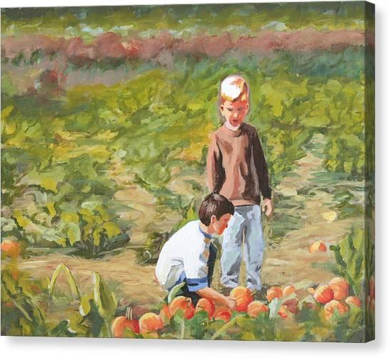Parlee Pumpkins Canvas Print