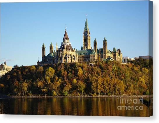 Parliament Hill Canvas Print - Parliament Hill In Ottawa, Canada by Scimat