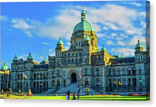 Parliament Victoria Bc Canvas Print
