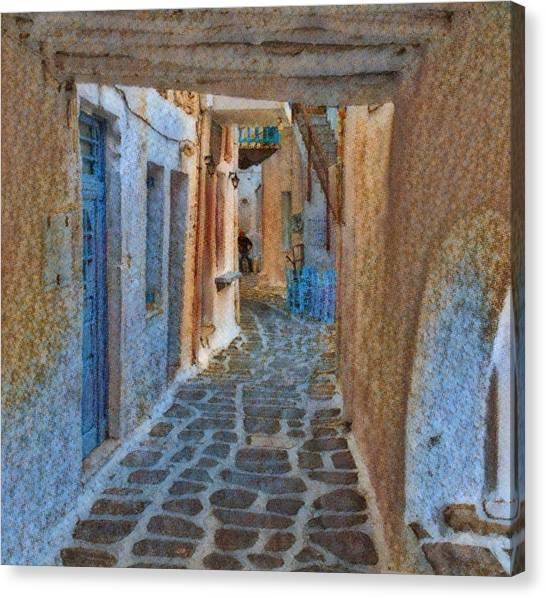 Paros Beauty Island Greece  Canvas Print