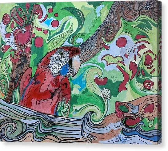 Parrot Kaleidoscope  Canvas Print