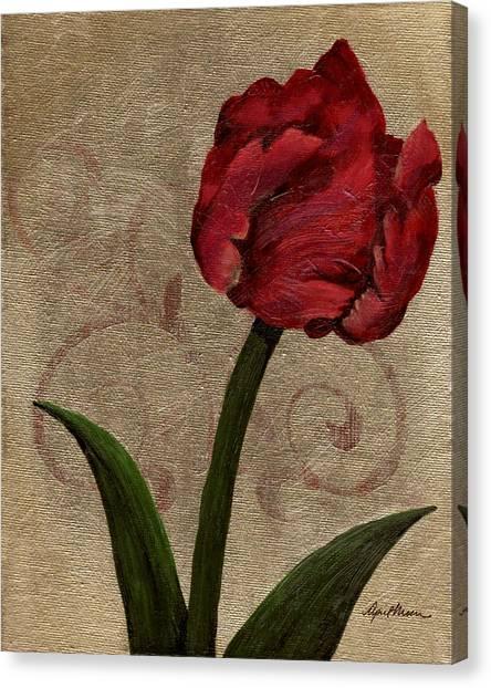 Parrot Tulip II Canvas Print