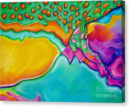 Post-modern Art Canvas Print - Parrotfish 2 by John Clark