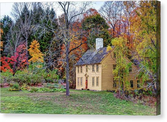 Parson Barnard House In Autumn Canvas Print