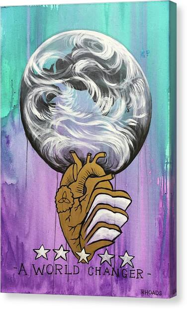 Canvas Print featuring the painting Partakers Of His Heart by Nathan Rhoads