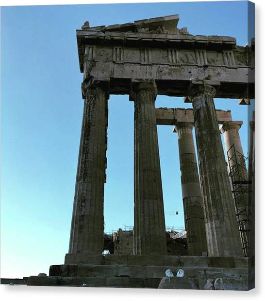 The Acropolis Canvas Print - Parthenon & Athens City. #backpacking by Tokyo Walk