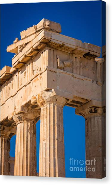 Greece Canvas Print - Parthenon Columns by Inge Johnsson