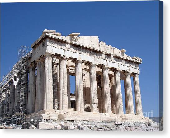 Greece Canvas Print - Parthenon Front Facade by Jane Rix