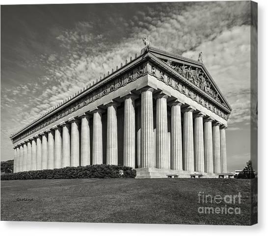 Vanderbilt University Canvas Print - Full-scale Parthenon Replica by Garland Johnson