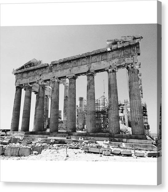 The Acropolis Canvas Print - Parthenon|athens,gr #parthenon #athens by Clarens Clarens