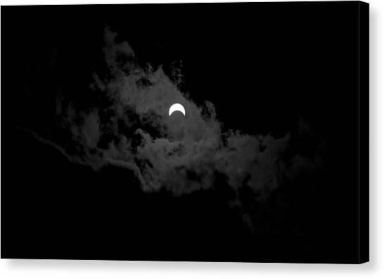 Partial Eclipse Canvas Print