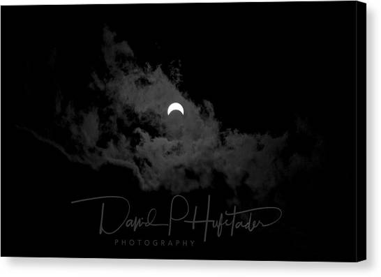 Partial Eclipse, Signed. Canvas Print
