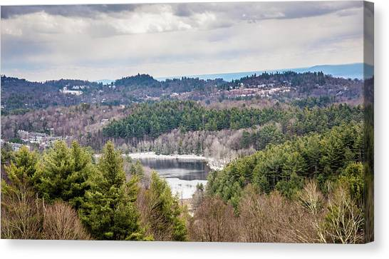 Moses Cone Canvas Print - Partially Frozen Lake by Cynthia Wolfe